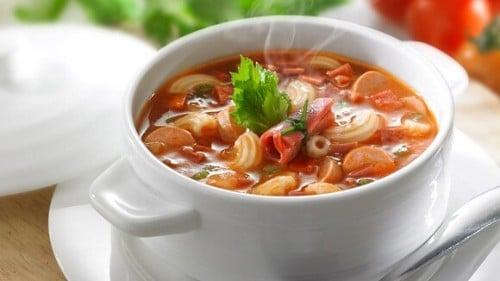 Sup Tomat Daging Asap