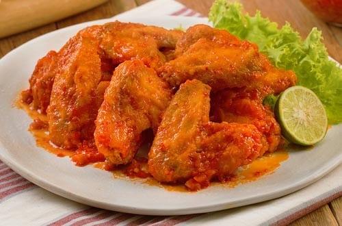 Chicken Wings Saus Padang