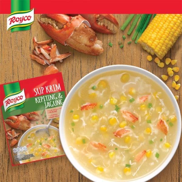Sup krim kepiting jagung
