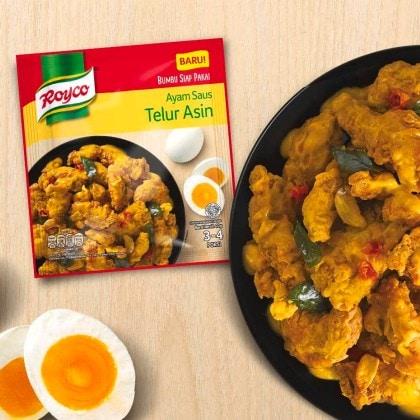Resep Kreasi Royco Ayam Saus Telur Asin