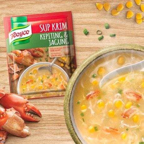 resep kreasi royco sup krim kepiting & jagung